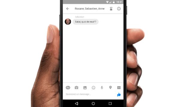 Facebook Self-Destructing messages
