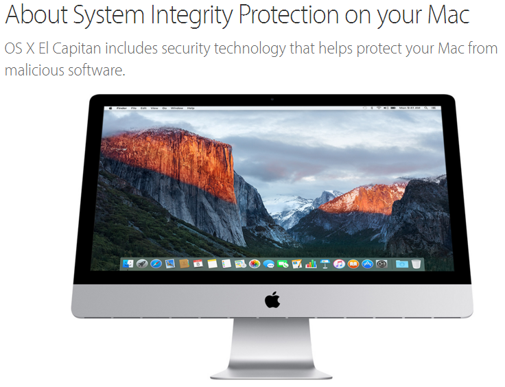 0ecfe437b24 The code to bypass Apple System Integrity Protection security mechanism  fits in a Tweet