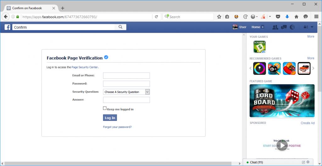 facebook phishing Netcraft