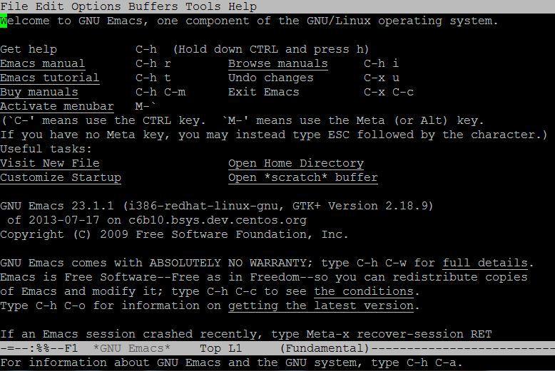 Emacs text editors