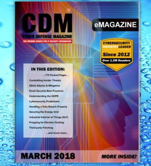 Cyber Defense Magazine March 2018