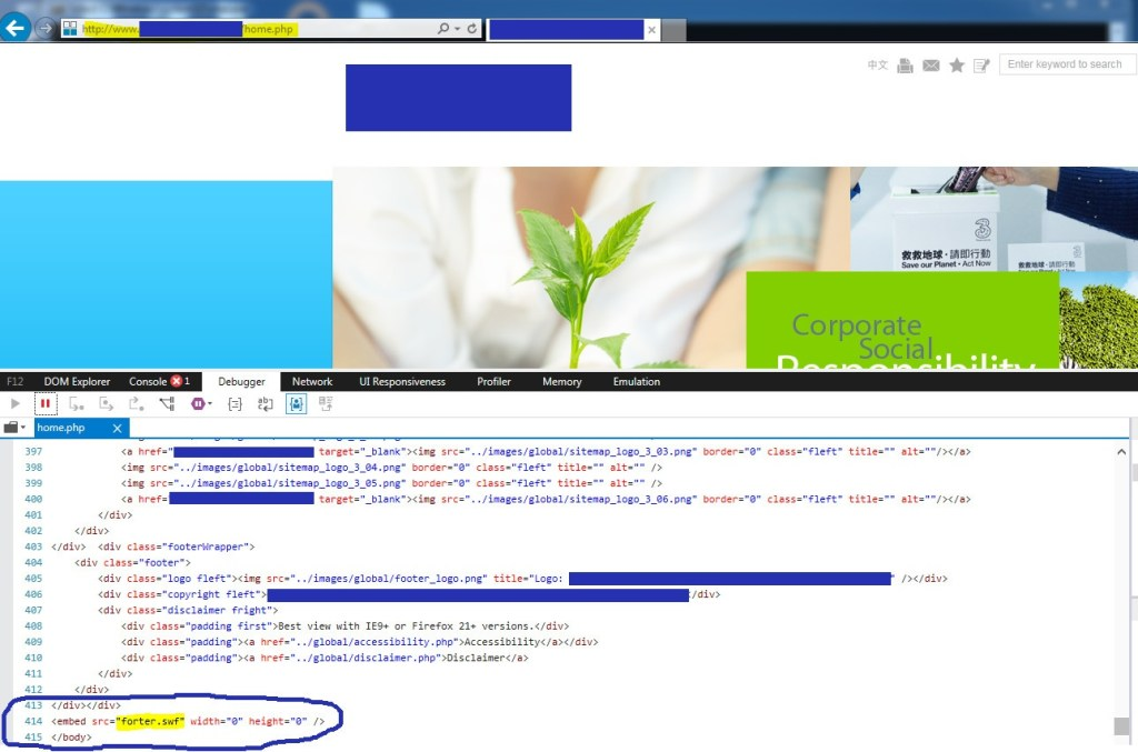watering hole HonkKong hacked site-blanked