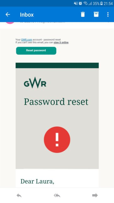 GWR notification